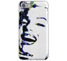 Monroe Celebrity Hollywood Abstract Painting iPhone Case/Skin