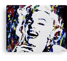 Monroe Celebrity Hollywood Abstract Painting Canvas Print