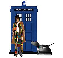 The Doctor and K-9 Photographic Print