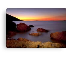 Sunset -N-Silk Canvas Print