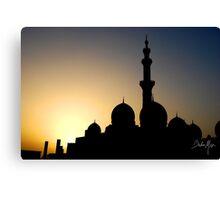 mosque silhouette Canvas Print