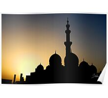 mosque silhouette Poster