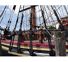 Bounty's Rigging Photographic Print