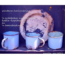 sommer net 'n bietjie verlang / memories Photographic Print