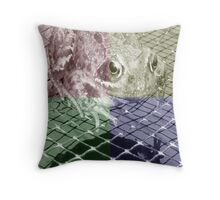 Down to the wire Throw Pillow