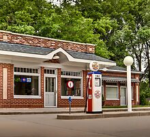 1933 Prairie Style Service Station & Cafe by Zunazet