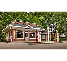 1933 Prairie Style Service Station & Cafe Photographic Print