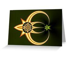 Golden Parasite Greeting Card