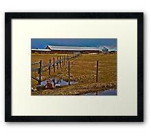 The old farm Framed Print