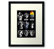 Cyberman Evolution Framed Print