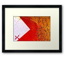 x>}} Framed Print