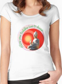 Buddha Sun Women's Fitted Scoop T-Shirt