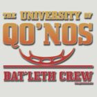 University of Qo'Nos: Bat'leth Crew (firebrand edition) by Groatsworth