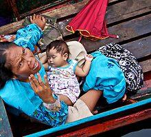 Mother and Sleeping Child by Rasfan  Abu Kassim