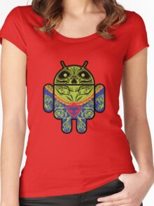Dia de los Android Muertos Women's Fitted Scoop T-Shirt
