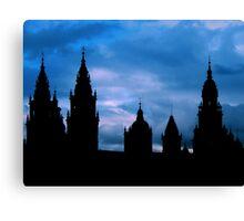 Churches against the sky in Santiago de Compostela Canvas Print