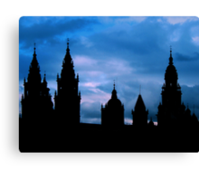 Churches against the sky in Santiago de Compostela Canvas Print