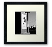 taking Nietzsche on your travels..... Framed Print