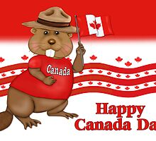 Canada Day Beaver by SpiceTree
