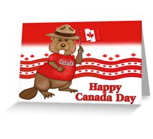 Canada Day Beaver Greeting Card