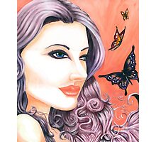 Butterfly Maiden ~ By Torrie Nightingale Photographic Print
