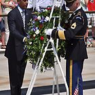 President Obama at Arlington National Cemetary by Matsumoto