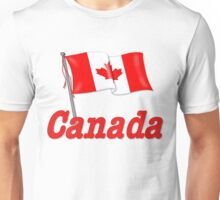 Canada Waving Flag Unisex T-Shirt