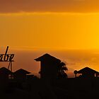 Firey sunset over Fanabe, Tenerife by MWhitham