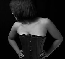 Shy Girl in a Corset by mottyg