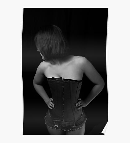Shy Girl in a Corset Poster