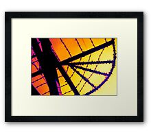 thermal wire Framed Print