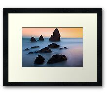 The Dead Sea… High Tide at Rodeo Beach Framed Print