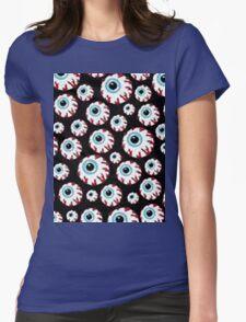 COOL RAD EYEBALL PATTERN Womens Fitted T-Shirt