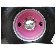Pink Firetruck Wheel Poster