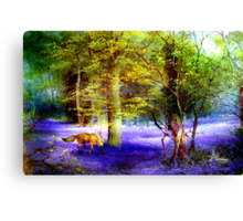 Bluebell Fox Canvas Print