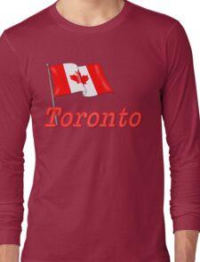 Canada Waving Flag - Toronto Long Sleeve T-Shirt