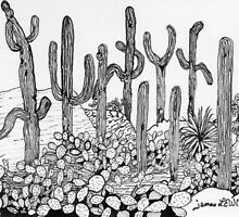 Dancing Saguaros by James Lewis Hamilton
