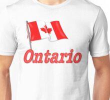 Canada Waving Flag - Ontario Unisex T-Shirt