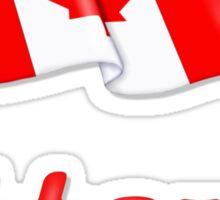 Canada Waving Flag - Ottawa Sticker