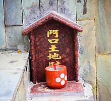 Hong Kong Street Shrine by Andrea Bell