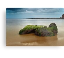 Green Sea Rocks Metal Print