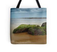 Green Sea Rocks Tote Bag