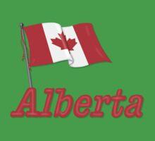Canada Waving Flag - Alberta Kids Clothes