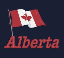 Canada Waving Flag - Alberta One Piece - Short Sleeve