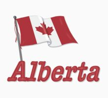 Canada Waving Flag - Alberta by SpiceTree