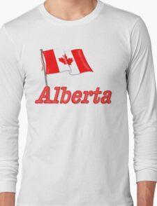 Canada Waving Flag - Alberta Long Sleeve T-Shirt