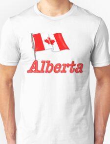 Canada Waving Flag - Alberta T-Shirt
