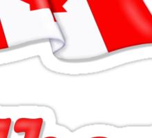 Canada Waving Flag - Alberta Sticker