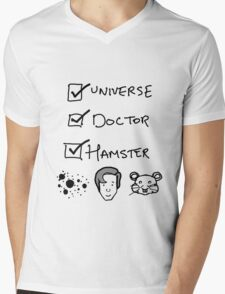 One Universe, One Doctor, One Hamster (Two) Mens V-Neck T-Shirt