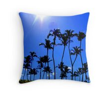 Palm Trees in Unison Throw Pillow